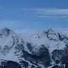 Du sommet du pic Barsaut, le Rocher d\'Aran et l\'Ourlénotte