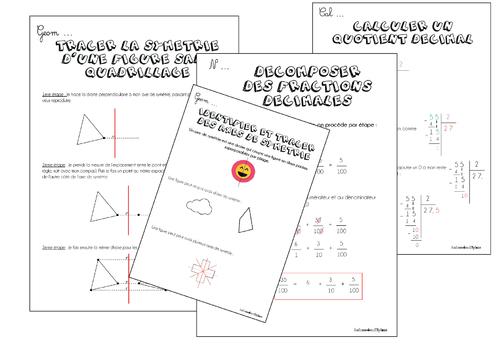 Leçons maths CM Période 4