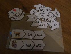 Jeux de syllabes pour former des mots