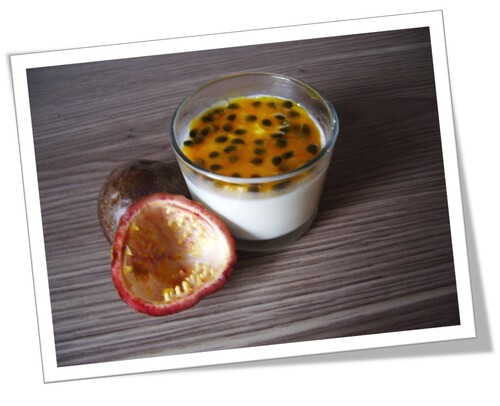 Panna cotta coulis passion