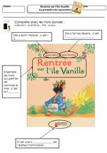 Rentrée sur l'ile Vanille- lecture suivie CE1