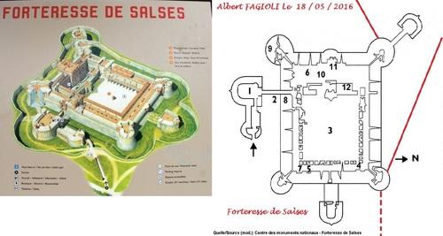 Les départs de souterrains depuis la forteresse de Salses, Albert Fagioli.(18 / 05 / 2016)(Photos  CMN)