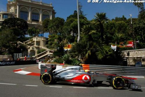 GP Monaco : Essais libres 1 - Hamilton 4°, Button 8°