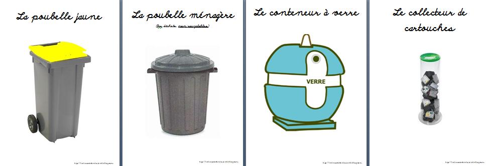 Favori Le recyclage des déchets - La classe de Charlotte AB58