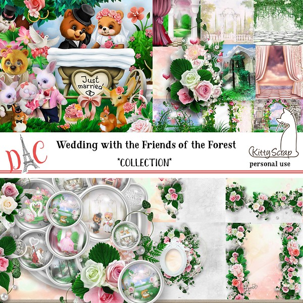 Collection Wedding with the friends of the forest de kittyscrap