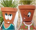 """""""Petit couple"""" en pot de terre cuite"""