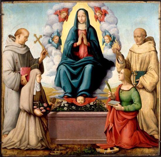 L'Assomption de la Vierge. Peinture de Vittore Carpaccio (1460-1526)