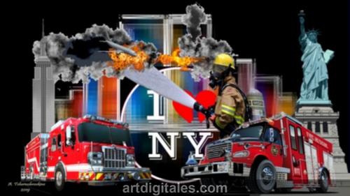 L'hommage aux pompiers de New-York