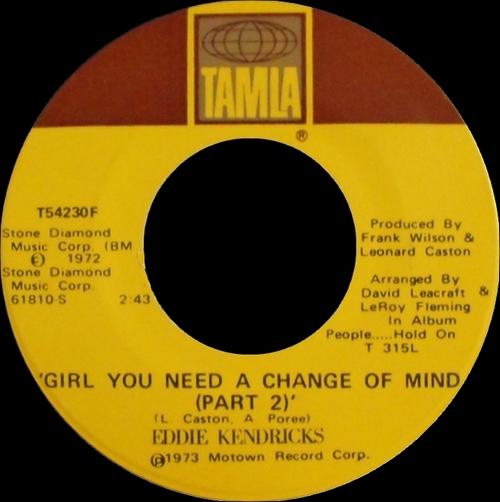 """Eddie Kendricks : Album """" People...Hold On"""" Tamla Records T 315L [ US ]"""