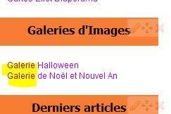 Galerie d'Images - Nouveauté Eklablog