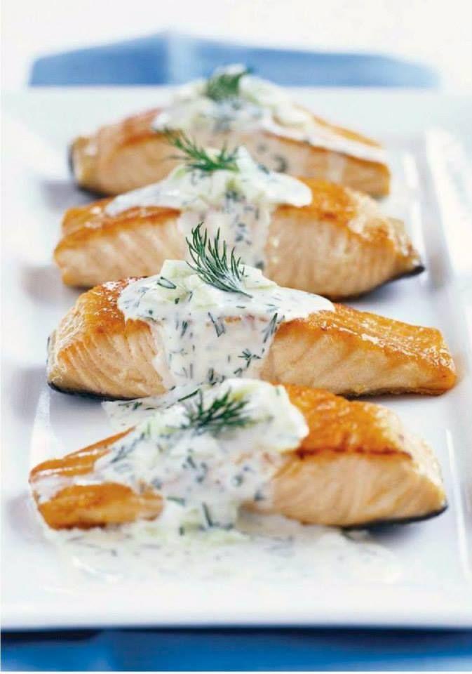 """Résultat de recherche d'images pour """"Pavés de saumon sauce aneth"""""""