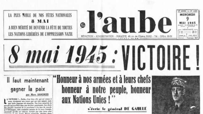 CHANTOUVIVELAVIE : BONJOUR - MERCREDI 08 05 2019 Armistice 1945