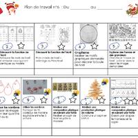 Plan De Travail De Noël La Maîtresse Au Petit Pois