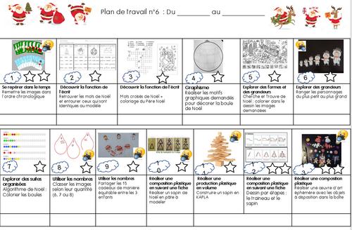 Plan de Travail de Noël