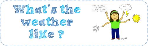 La météo en anglais