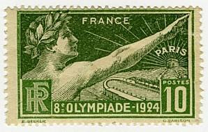 1313346-Timbre émis à loccasion des jeux Olympiques de Pa