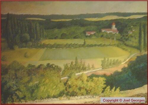 Sur le motif . Peinture huile Joel Georges