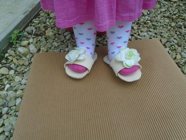 Amandine et ses sandales