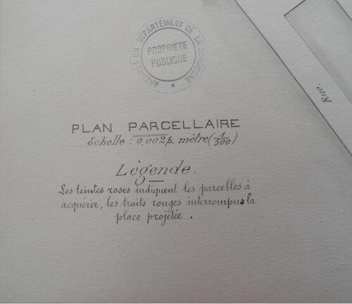 Cadastre : Projet Place du Château