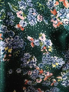 Ma robe verte fleurie