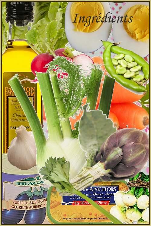 Anchoïade pour légumes crus