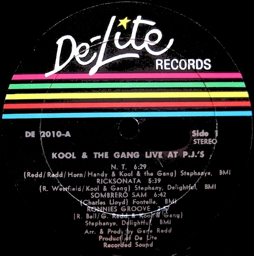 "Kool & The Gang : Album "" Live At P.J.'s Hollywood, California May 29, 1971 "" De-Lite Records DE 2010 [ US ]"