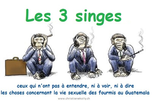 Les 3 singes