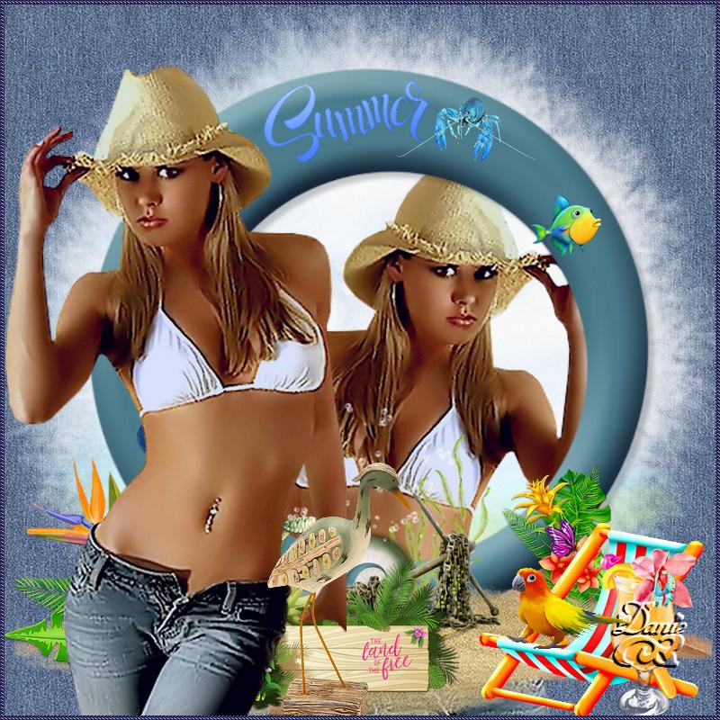 Tuto de Maryse pour vous souhaiter un bel été....