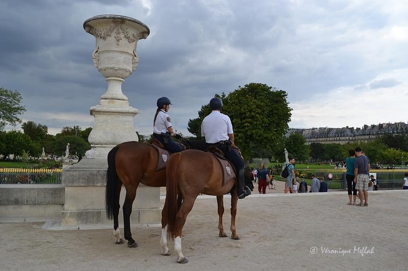 La Garde Républicaine au Jardin des Tuileries