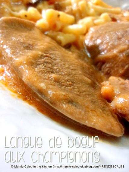 Langue de bœuf aux champignons