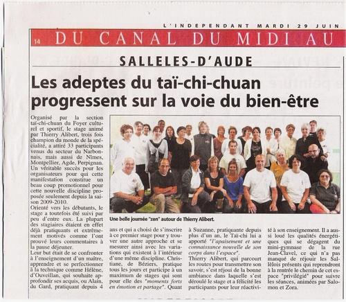 0 - 2010.06 - L'Indépendant couvre l'évènement