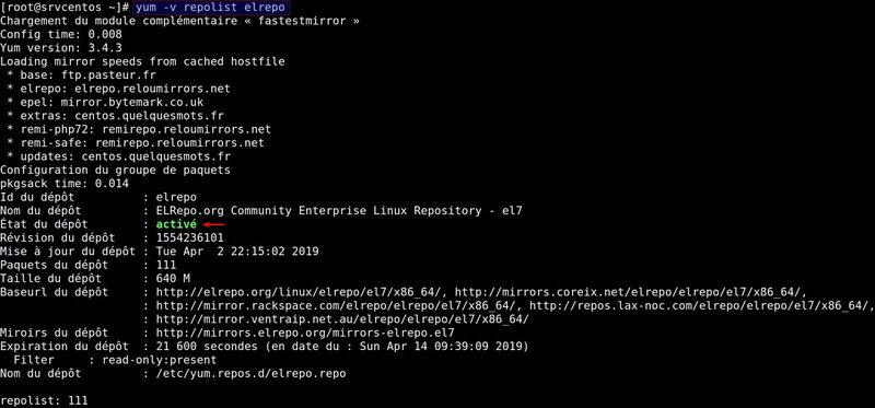 Installer le kernel LTS sur Centos 7