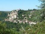 Le village de Rocamadour sur son éperon