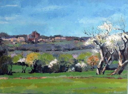 Le village de Boffres au printemps