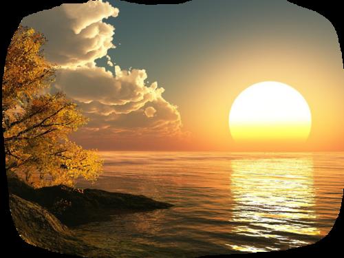Paysage coucher de soleil / 7