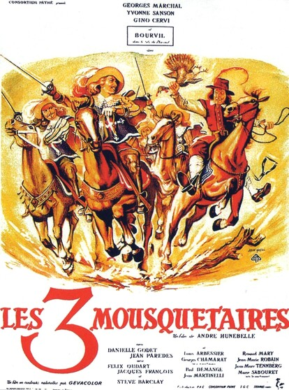 LES 3 MOUSQUETAIRES - BOURVIL BOX OFFICE 1953
