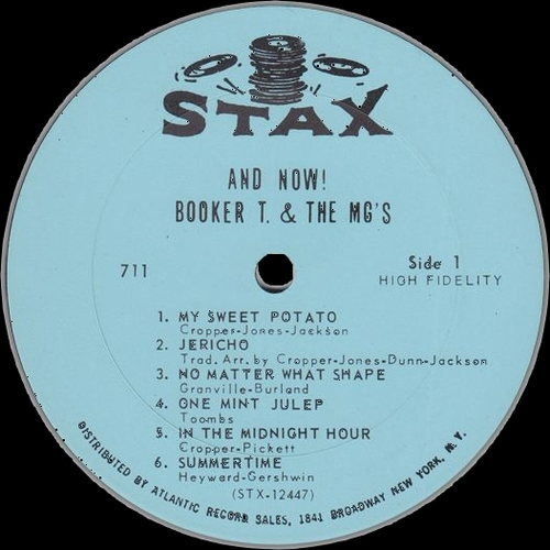"1966 : Album "" And Now ! "" Stax Records S 711 [ US ]"