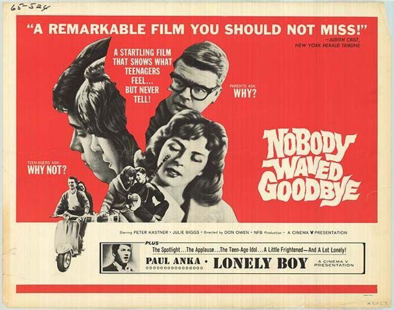 NOBODY WAVED GOODBYE BOX OFFICE USA 1965
