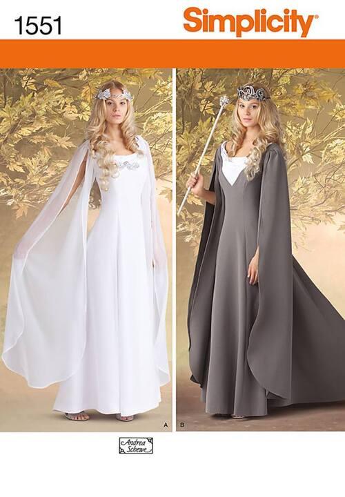 Patron robe blanche Daenerys saison 5