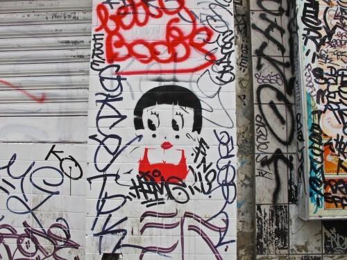 street-art Oberkampf Betty Boop 1