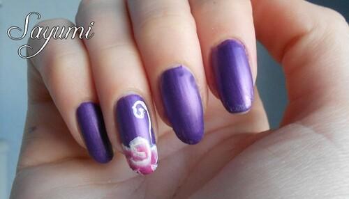 Nail Art Bouton de Rose raté