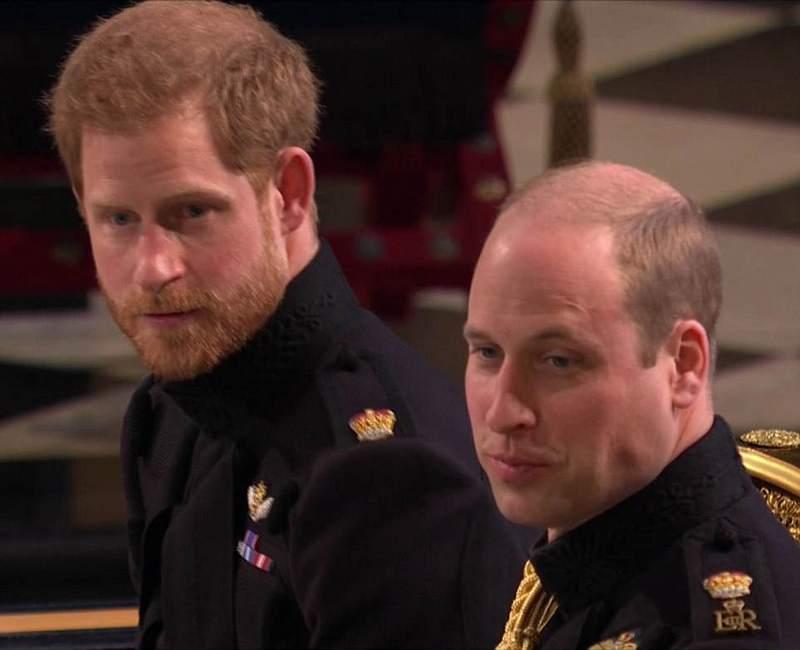 Arrivée des princes Harry et William