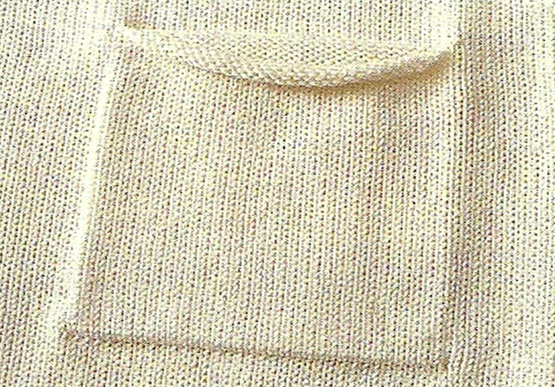 comment coudre une poche sur un tricot