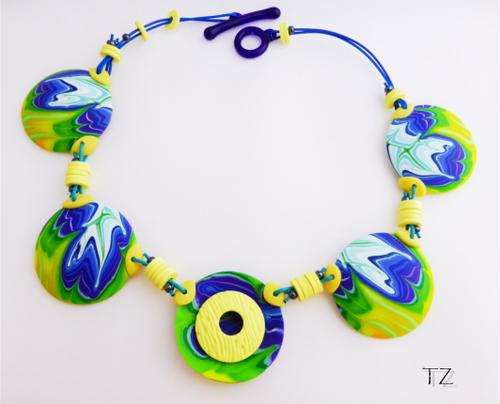 Le collier que nous avons monté avec ces perles