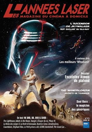 """Les Années Laser N° 273 avril 2020 """"Magazine Cinéma"""""""