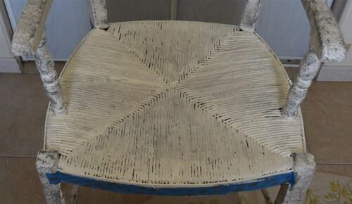 Relookage d'un fauteuil en bois...