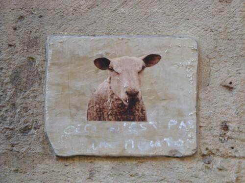 bestiaire mouton Street-art Beaubourg