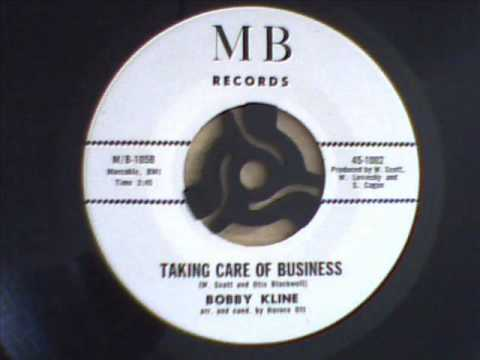 BOBBY KLINE - taking care of business