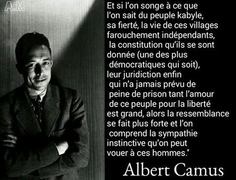 Albert Camus parle du peuple kabyle