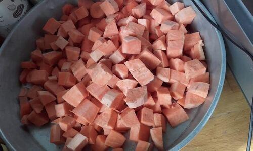 Galettes des légumes patate douce/carottes (comme du surgeé mais {Vegan}